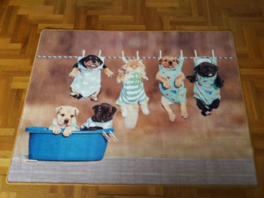 Детски килим Кученца-приятна и весела обстановка в детската стая
