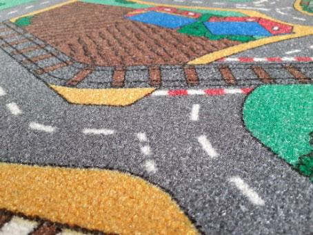 Детски килим на пътища City за момче