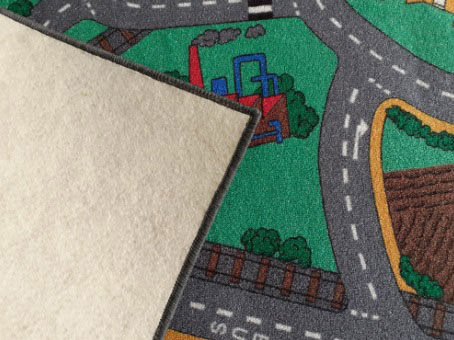 Детски килим на пътища City с филцова подложка (вата)