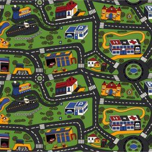 Детски килим на пътища City Life 140-200 см от фирма Мертекс-София